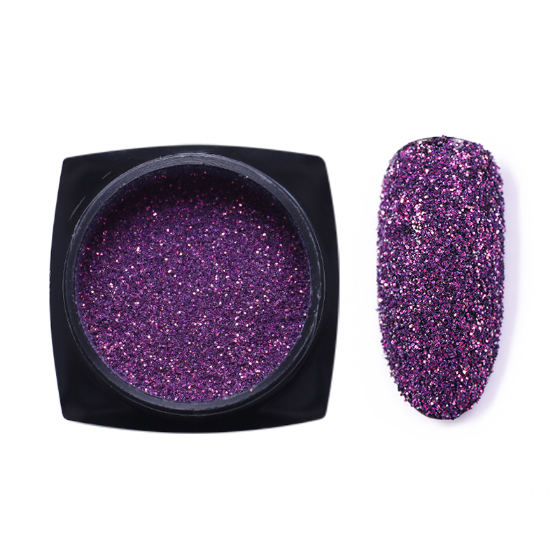 6 1 Boxes Holographic Nail Powder Glitter Laser Chrome Pigment Dust Nail Art Decorations Manicure Design in Nail Glitter from Beauty Health