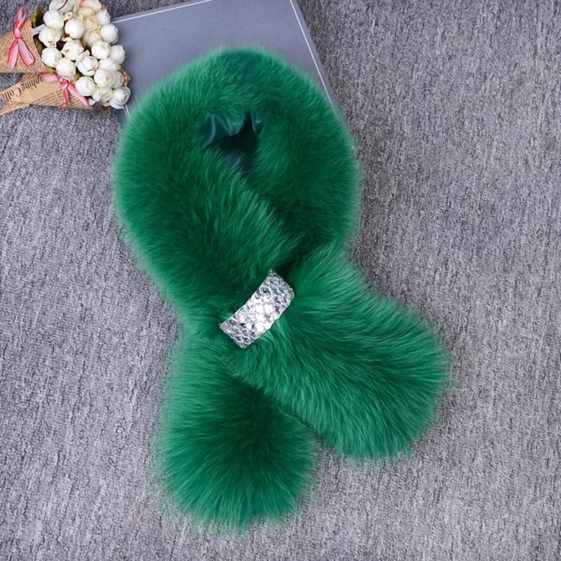 Real Fox Fur Women Winter Fashion Scarves Warm Scarf Fake Shirt Collar Lady Elegant Temperament Accessories