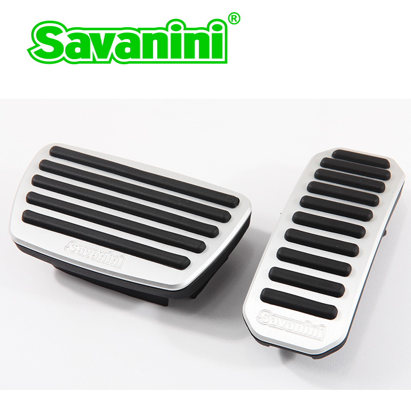 Savanini Accelerator Gas Brake Pedal Pad no drilling for Lexus ES and Toyota Highlander/Prado/Land cruiser/Camry auto car