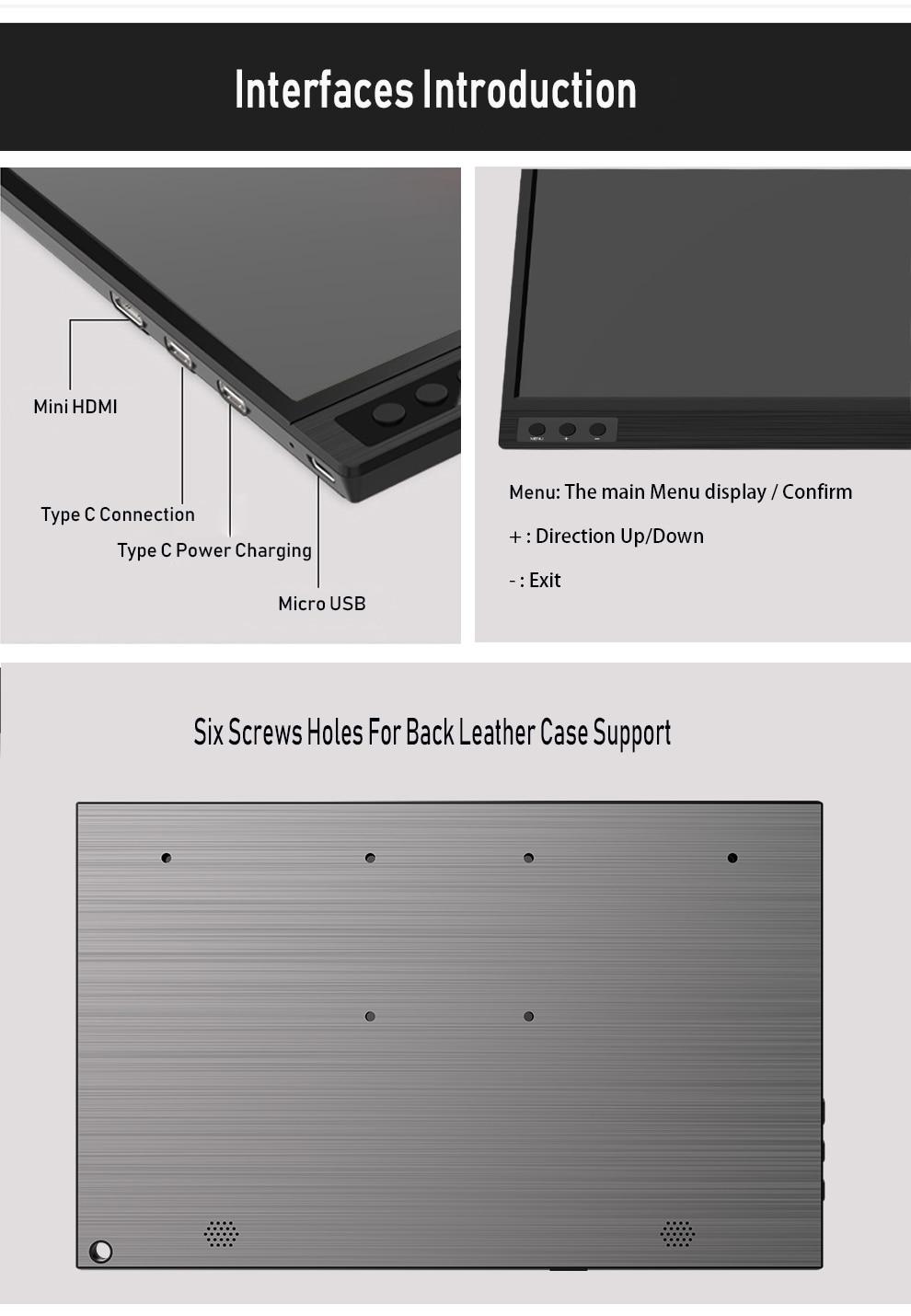 ZEUSLAP İnce Taşınabilir LCD HD 15.6 Monitör