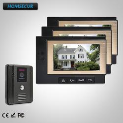 """HOMSECUR 7 """"Видео и Аудио Смарт дверной Звонок + Открытый Мониторинг 1C3M для Квартиры TC011-B + TM702-B"""