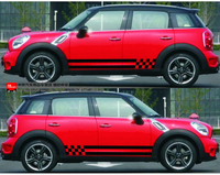 Vinyl side graphic car styling side doors decals car sticker for Mini Cooper car stickers and decals