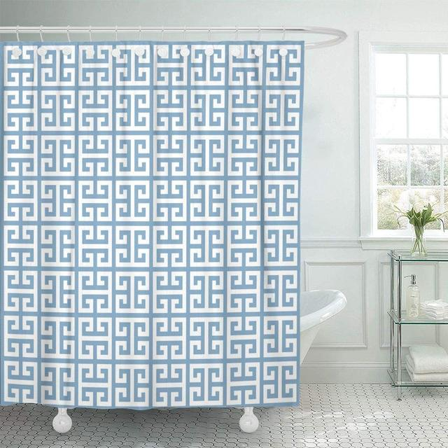 Shower Curtains Bathroom Curtain Border Of Ancient Greek Key Mediterranean Abstract Antique Architecture Culture Ethnic Bath