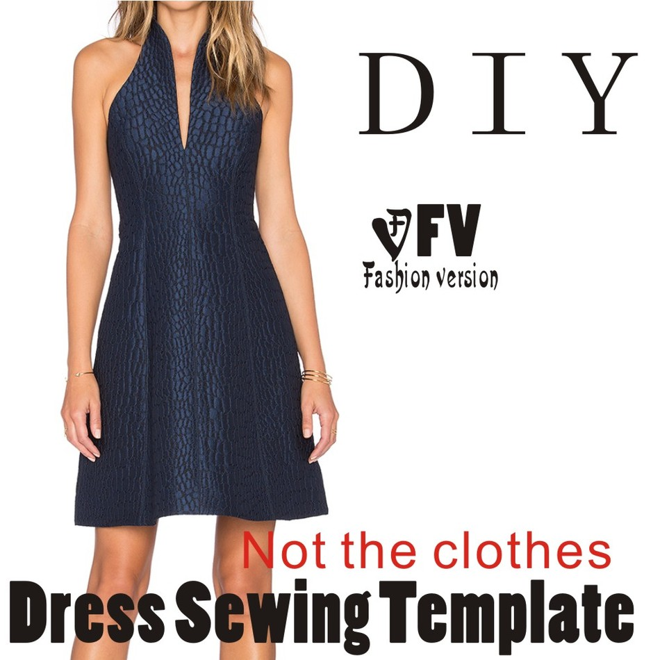 Clothing DIY The Dress Dresses Sewing Pattern Cutting Drawing Dress Sewing Template BLQ-256