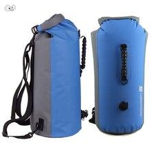 25L/35L/60L PVC IPX7 Waterproof Dry Bag Swimming Backpack Kayak Rafting Drifting Camping