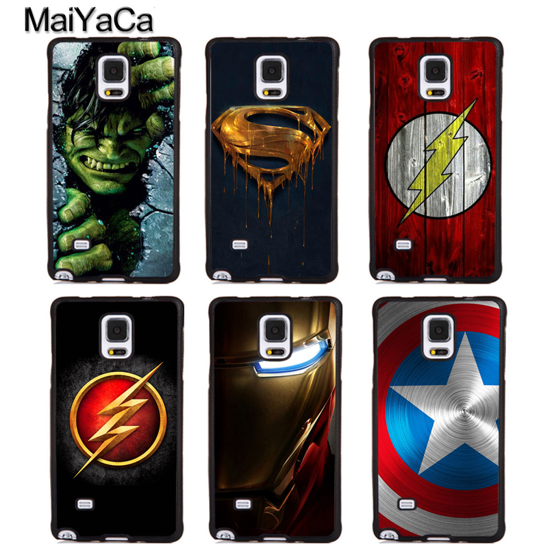 MaiYaCa Marvel Superhero Flash Style Soft Phone Cases For Samsung Galaxy S5 S6 S7 edge plus S8 S9 plus Note 3 4 5 8 Back Cover