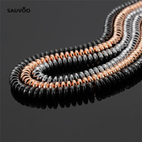 Sauvoo Approx 130pcs Lot Hematite Beads 3 6mm Ovla Loose Spacer Charm Bead Black Rhodium