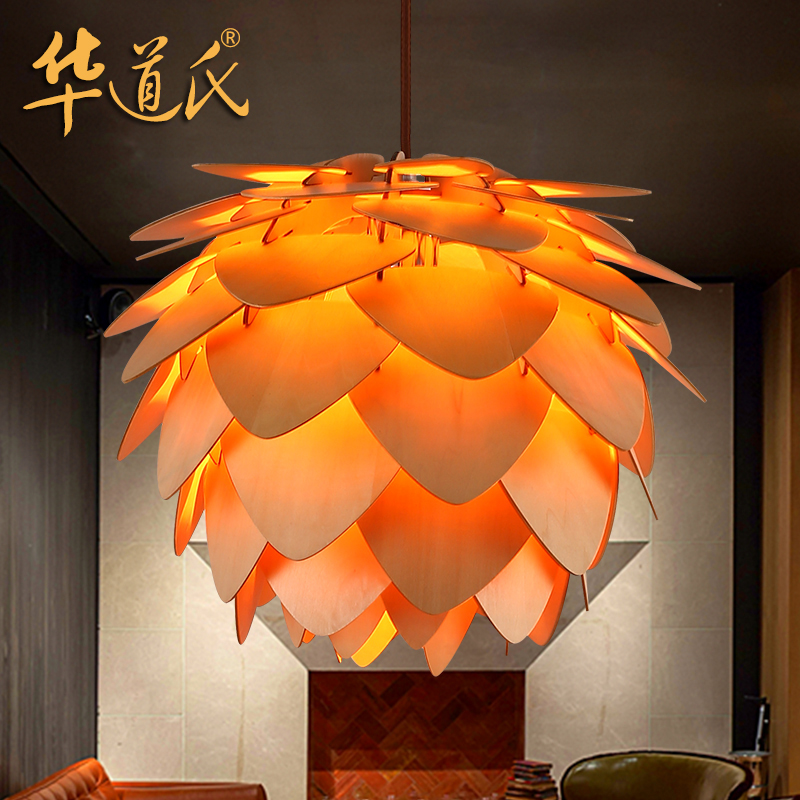 China's two generation of Nordic wood designer pendant restaurant cafe bar chandelier pineal personality minimum of two