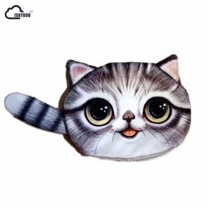 ISKYBOB New Small Tail Cat Coin Purse Cute Kids Cartoon Wallet Kawaii Bag Coin Pouch Children Purse Holder Women Coin Wallet