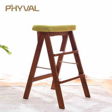 Multi-functional Stools Nordic Minimalist Furniture Fashion Wooden Shoes Sofa Portable ladder Foldable Chair(China)