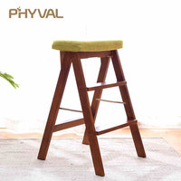 Multi functional Stools Nordic Minimalist Furniture Fashion Wooden Shoes Sofa Portable ladder Foldable Chair