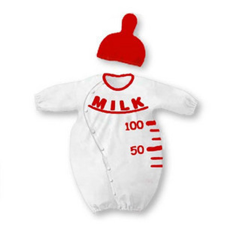 c22404f3a Fashion New Baby Rompers baby clothing set Milk bottle romper + red ...