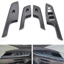 Yaquicka 4 шт./компл. двери автомобиля подлокотник кнопка включения окно рамы накладка Стикеры ободок для укладки для Honda CRV 2012-2016 LHD