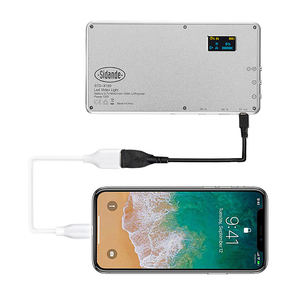 Image 4 - X 180 3200 5600K kısılabilir ince ultra açık LED Video işığı kamera fotoğraf aydınlatma DSLR kamera lambası 400mAh taşınabilir şarj cihazı OLED