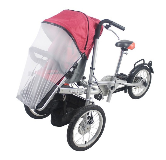 6133f8241fe HOTSale Whole set Selling Folding Taga Bike adding+ 1 mosquite net 16inch Stroller  Bike Carrier Bicycle car baby stroller 3 in 1