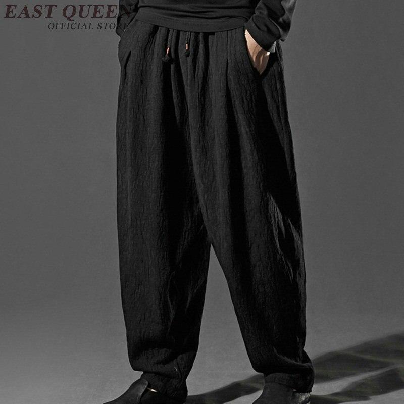 Китайские мужские льняные черные штаны, китайская мужская одежда, штаны для кунг фу, брюки KK6477|pants black|pants pantspants black men | АлиЭкспресс