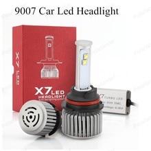Auto Care X7 9007 Car Led Headlight High Power Auto 60W X2 White 6000K Repalcement Bi xenon Headlamp free shipping