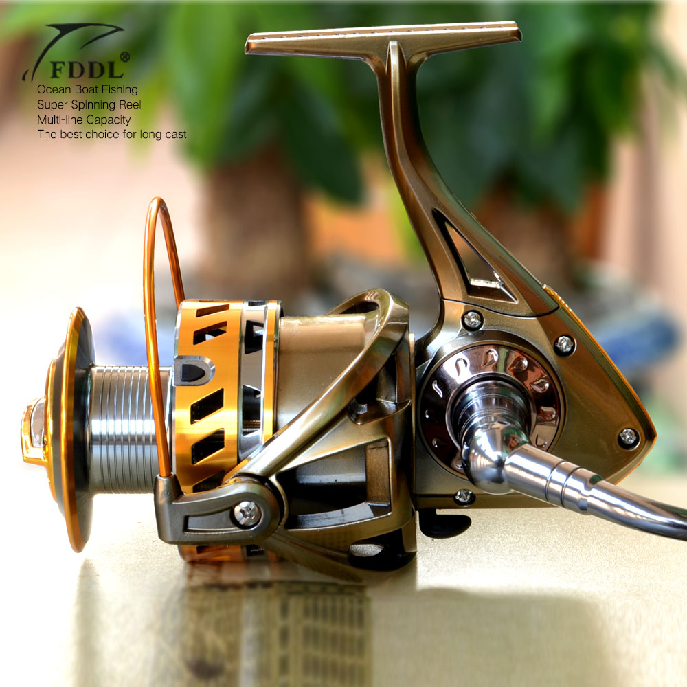 Molinete FDDL Fishing reel 8000 9000 full metal wire cup Big long Shot sea salt water 5.2:1 spinning reel carretilha pesca