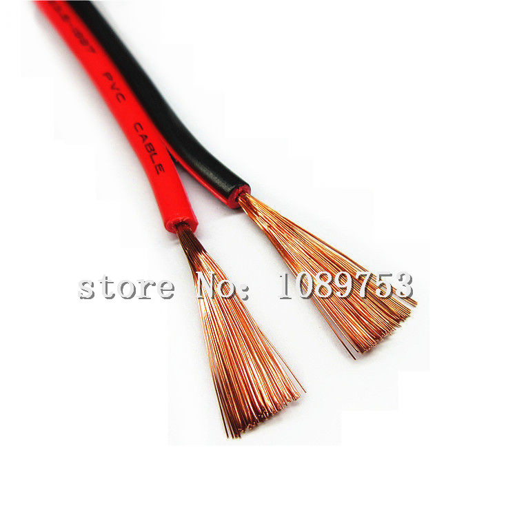 2Pin Extension Red Black Wire Cable Cord for 3528 5050 5630 LED ...