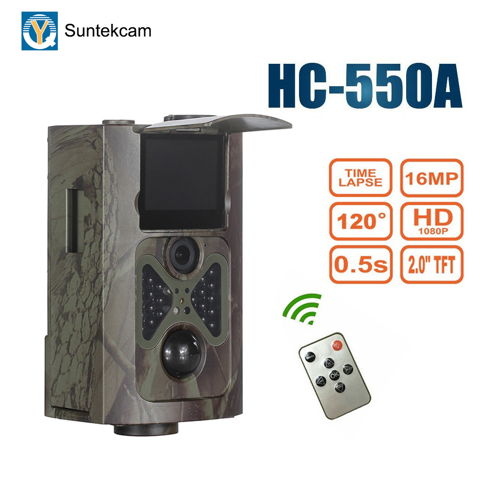 SUNTEKCAM HC-550A Trail Hunting Camera Wildlife Surveillance IR Night Vision Game Camera Infrarouge 1080P 16MP Photo Video TrapSUNTEKCAM HC-550A Trail Hunting Camera Wildlife Surveillance IR Night Vision Game Camera Infrarouge 1080P 16MP Photo Video Trap