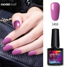 Modelones 10 мл фиолетовый салон УФ-Лаки для ногтей гель soak off полу постоянный UV LED Гели для ногтей лак Долгое Дизайн ногтей гель клей