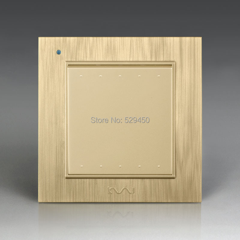 Free Shipping, Kempinski Luxury Wall Switch, 1 Gang 1 Way, Light Switch, AC 110~250V, X8 series kempinski wall switch 3 gang 1 way light switch champagne gold color special texture c31 sereis 110 250v popular