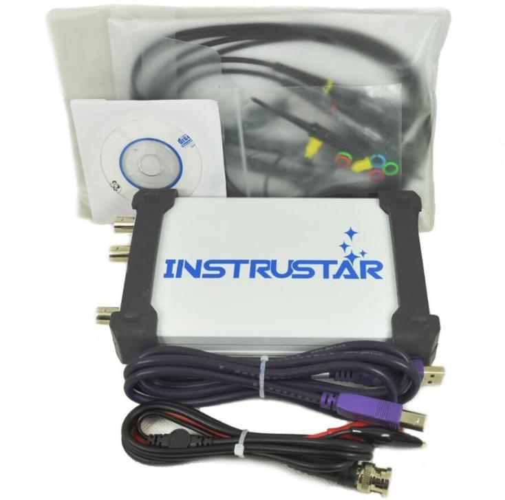 Oscilloscope numérique virtuel PC USB 2 canaux 60 MHz 200 MS/s DDS générateur de fonction de Signal analyseur FFT 3in1 ISDS220B