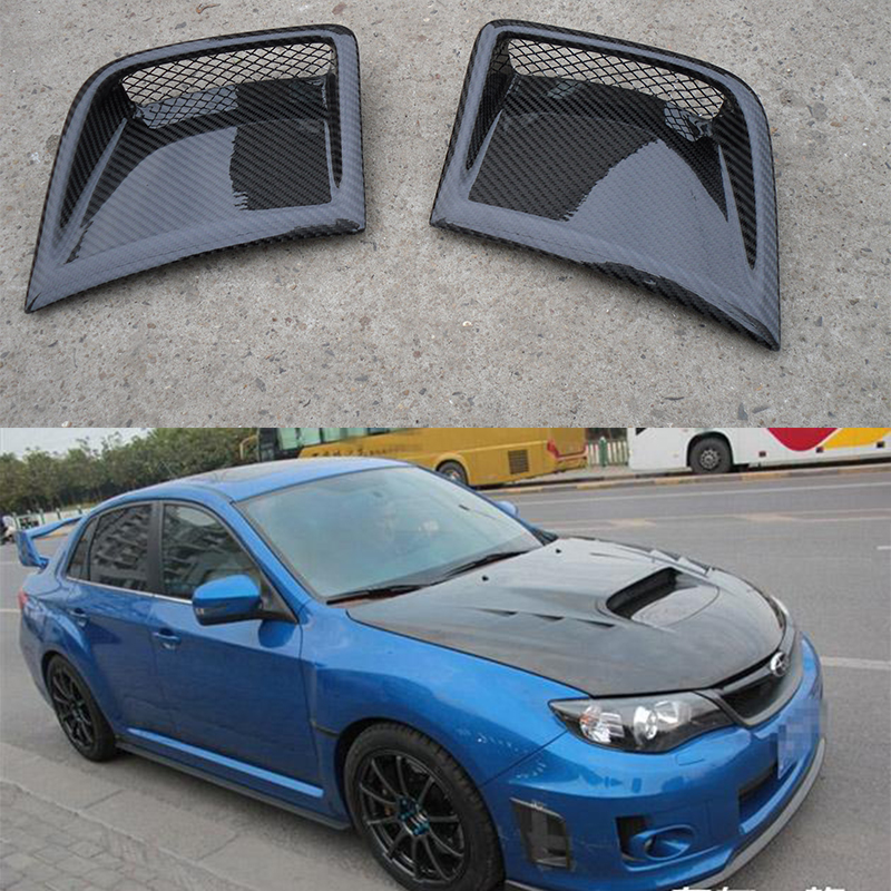 For Subaru Impreza WRX 10th front side air vent Carbon Fiber Front Bumper Scoops Air Duct