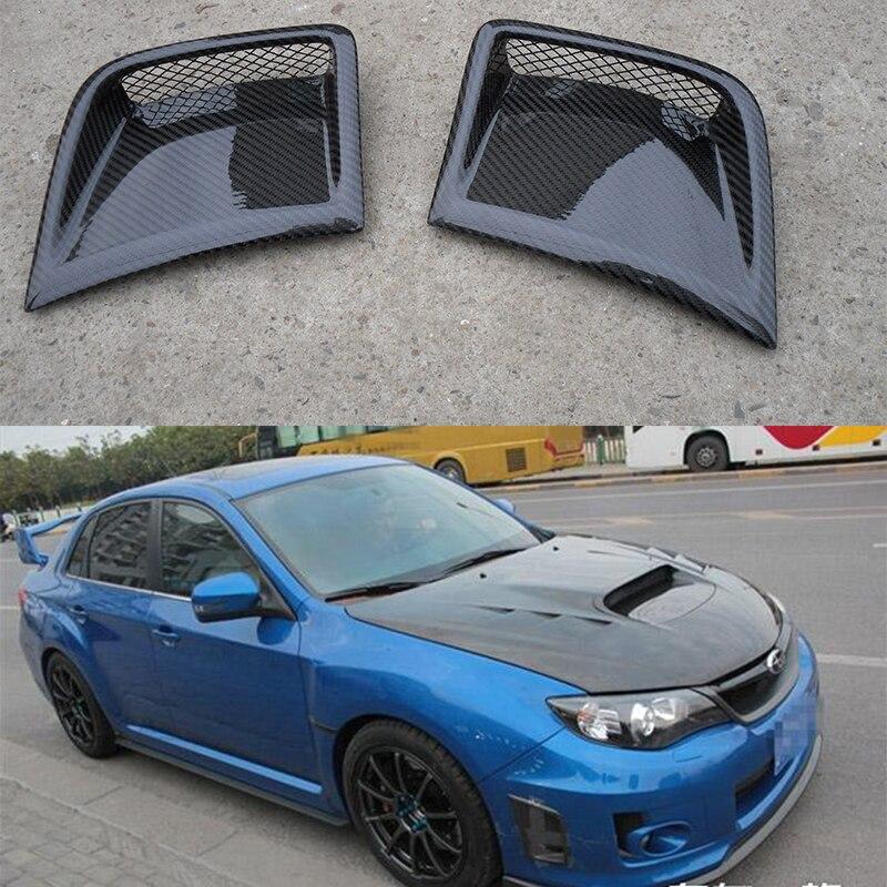 Для Subaru Impreza WRX 10th спереди сбоку вентиляционное отверстие углерода Волокно переднего бампера Ковшики воздуховодов вентиляционных 2008 ~ 2011
