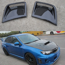For Subaru Impreza WRX 10th front side air vent Carbon Fiber Front Bumper Scoops Air Duct Vent 2008~2011