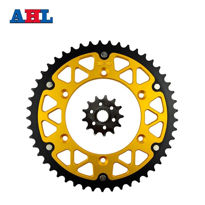 Motorcycle Parts 49-13 T Front & Rear Sprockets Kit For SUZUKI RM-Z250 RM-Z 250 RMZ250 RMZ 250 2007-2012 Gear Fit 520 Chain стоимость