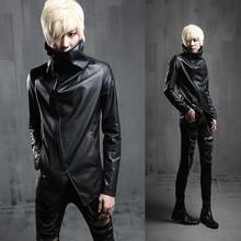 Male s autumn winter men leather jacket coat men fashion slim stand collar coat street harajuku