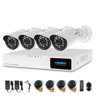 H.View 720P Video Surveillance System 4CH CCTV Security Kit 4PCS 720P Outdoor Security Camera 8 CH CCTV DVR NO HDD