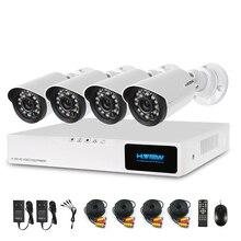 H. View 720 P 4CH CCTV de Seguridad del Sistema de Video Vigilancia Kit 4 UNIDS 720 P Al Aire Libre Cámara de Seguridad 8 CH CCTV DVR SIN DISCO DURO