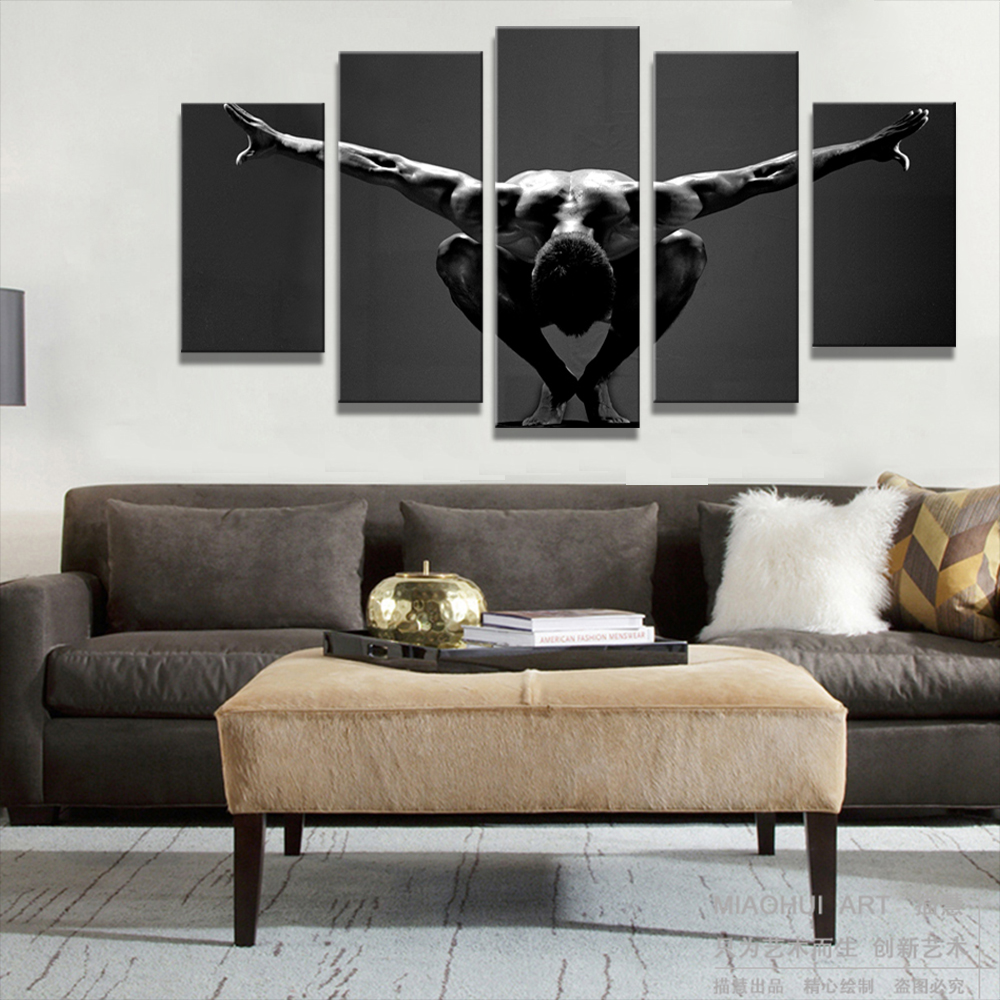 Unframed 5 HD Canvas Prints Mannequins Living Room Decoration Mural Module Art Spray Painting Unframed Free Shipping