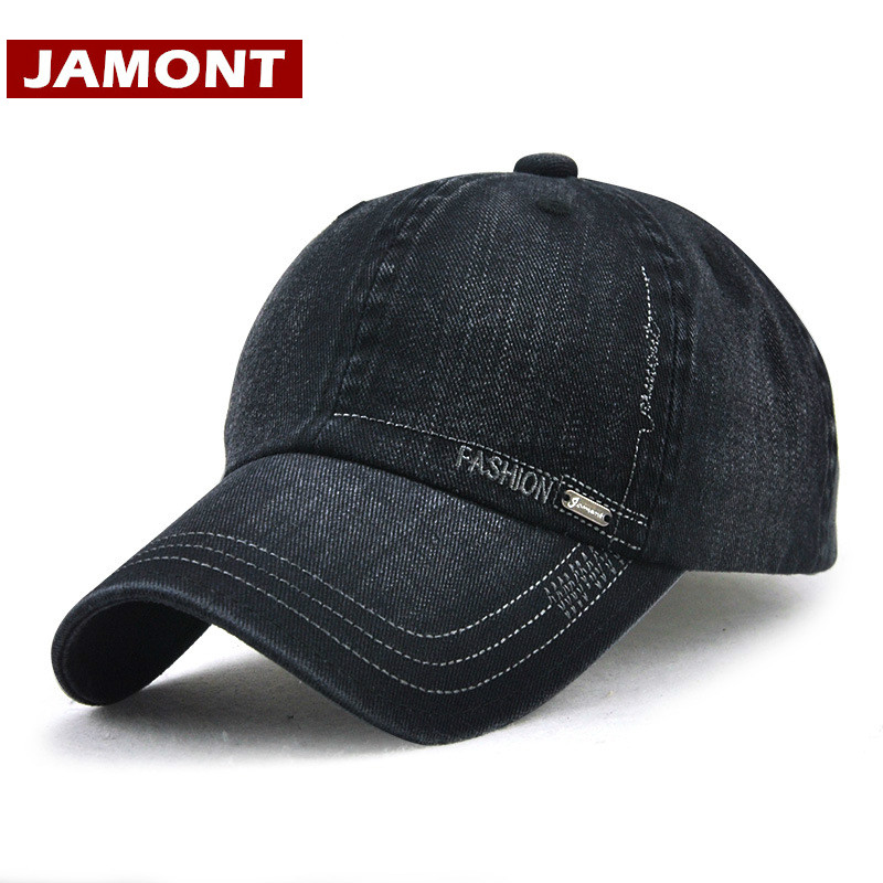 [JAMONT] Brand Fitted Hats Unisex Baseball Cap Outdoor Snapback Hat for Men Women Solid Cotton Casual Caps Casquette [boapt] metal label cotton summer male baseball caps for women hats branded solid color men s hat casual snapback cap casquette
