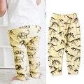Teste Padrão do Dinossauro Crianças Calças do bebê Calças de Algodão Para O Bebê Meninos Infantil Meninas Leggings Outono Roupas Casuais