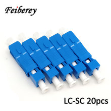 20 Pcs LC-SC UPC Optical Fiber Hybrid Adapter with LCUPC Female SCUPC Male Connector for Single Mode FTTH SC LC Hybrid Adapter(China)