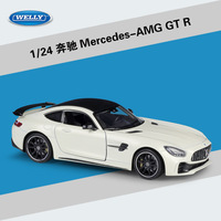 Welly 1:24 Scale Alloy Racing Car Model Toy For Mercedes Benz AMG GTR Sports Car Metal Toy Car For kids Gift With Original Box