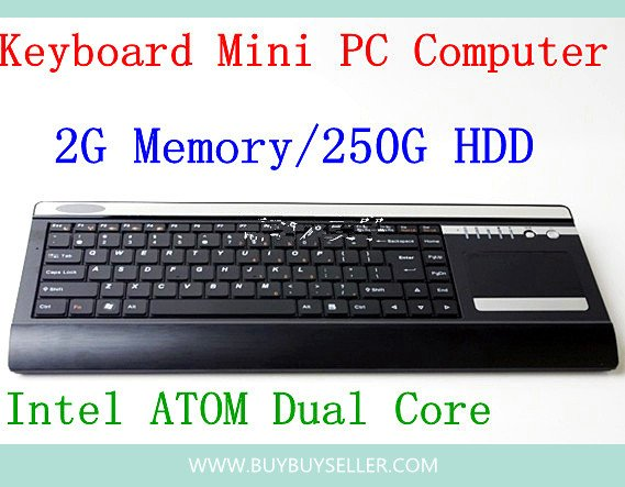 caa140946f9 New arrival all in one keyboard Mini pc computer withIntel ATOM Dual Core  D525-1.8