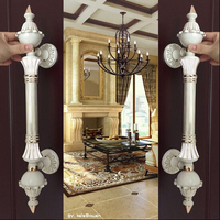 550 мм Ретро Мода Большой ворота, дверные ручки цвета слоновой кости стеклянная дверь тянуть белого золота деревянная дверь тянет в европейс...