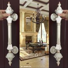 550mm Retro fashion big gate door handle ivory white glass door pull white gold wood door pulls Europe style door handles 450mm