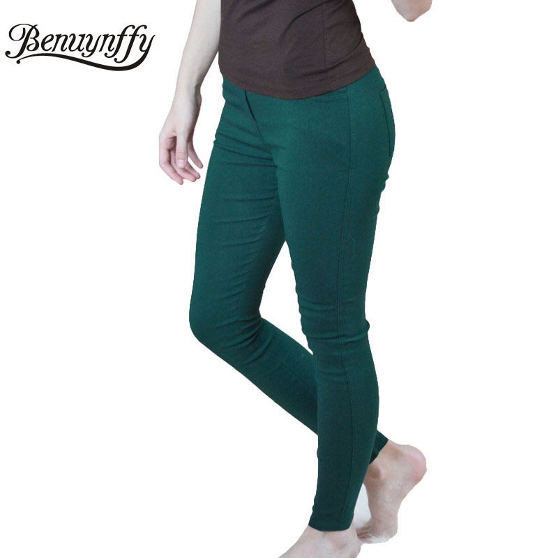 New Fashion 2017 Spring and Summer Plus Size Women's Clothing 3XL White Pencil Pants Ladies Cotton High Waist Elastic Trousers