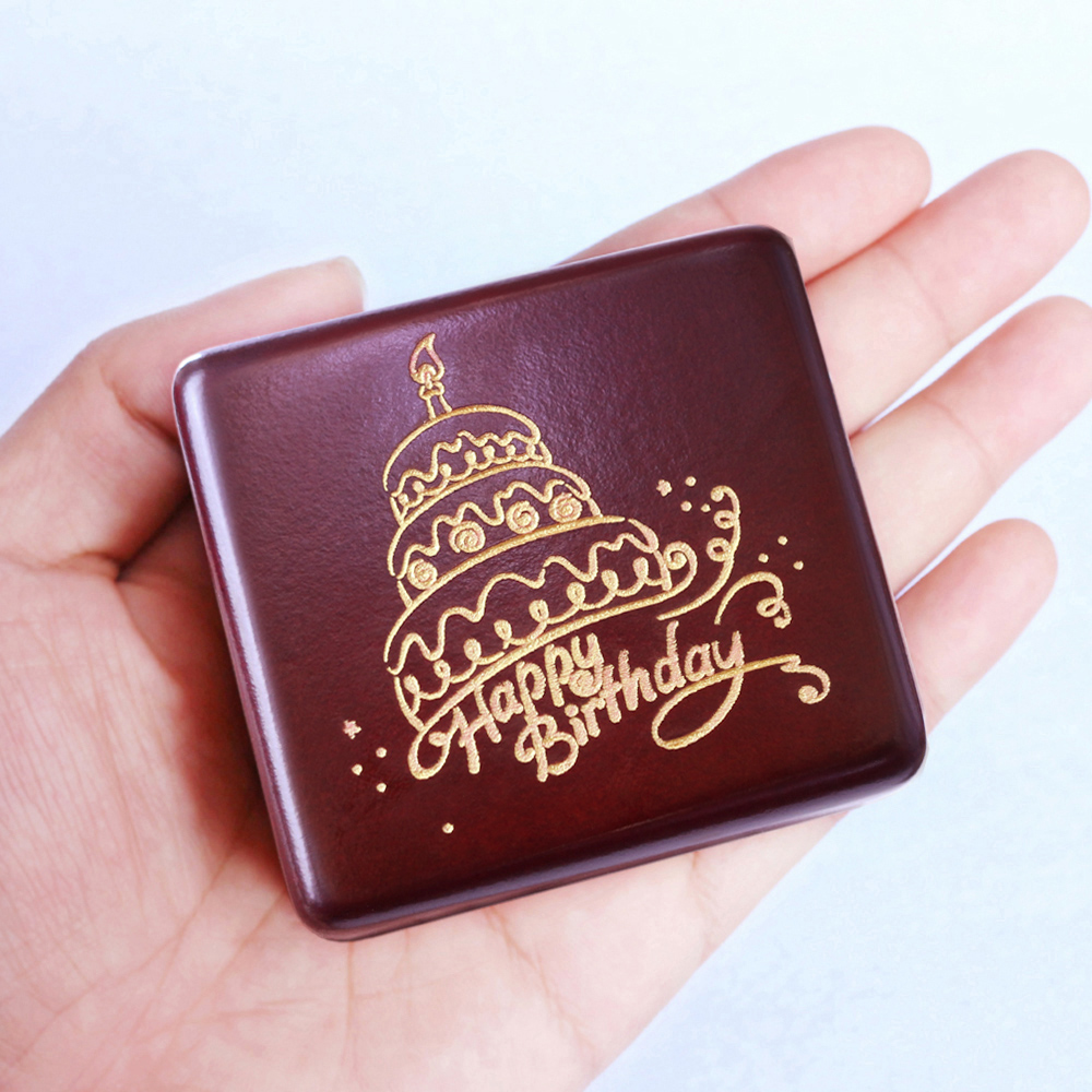 Sinzyo Handmade Wooden Happy birthday Music Box Birthday Gift For Christmas/Birthday/Valentine's day gift box Anniversary