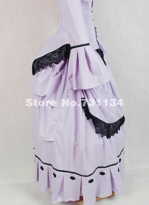 Français Nouvelle Vintage 18th Bustle De Robes Pourpre Siècle Élégante Lumière Historique partie Noble Bal Robe 17th Commande Style Victorienne v80nwmN