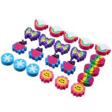 Kid's Party Favor Cute Design Rubber Erasers Set