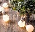 На батарейках 20 светодиодный Шар Рождество гирлянда гирлянды большой мяч строка гирлянды огней для Праздник Свадьба Партия Украшения