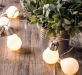 Battery operated 20 led Globe Christmas festoon fairy lights big ball string garland lights for Holiday Wedding Party Decoration
