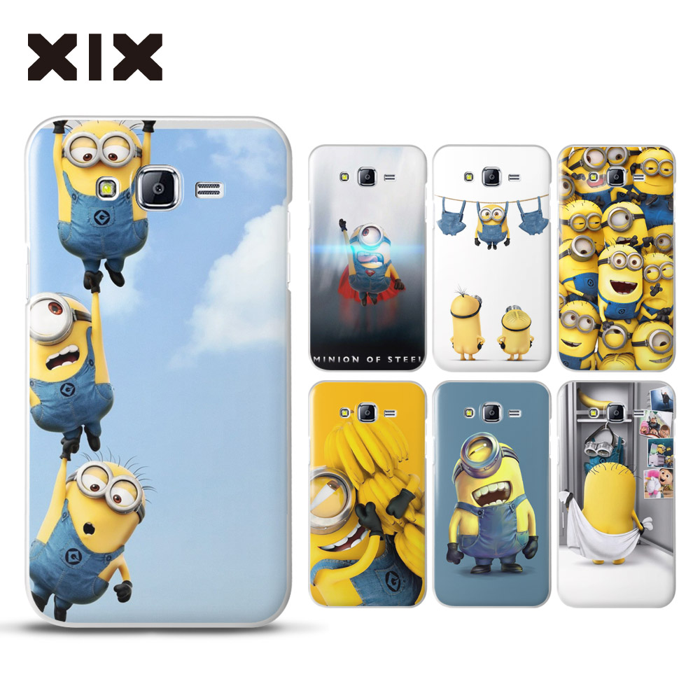 for coque samsung galaxy j5 case case cute minions hard pc pc for fundas galaxy j5. Black Bedroom Furniture Sets. Home Design Ideas