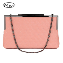 2017 neue Frauen Casual Kupplung Umschlag Messenger Bags Top-qualität Leder Gitter Berühmte Marke Design Handtasche Kette Umhängetaschen